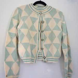 Gianni Versace Vintage Argyle Sweater Set